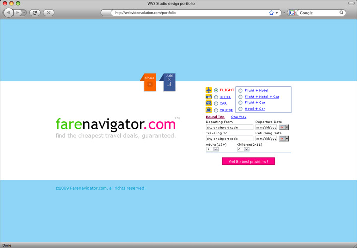 farenavigator-2009 homepage design