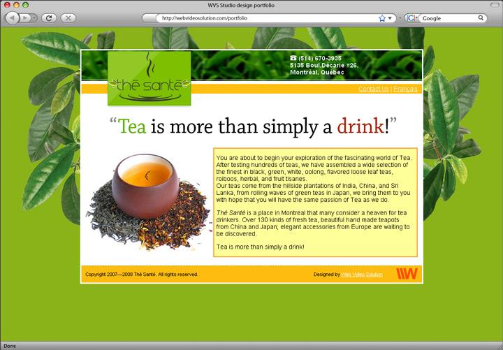 the-sante homepage